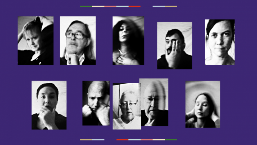 Fotos af de otte nominerede til Montanas Litteraturpris