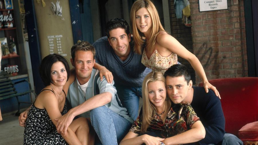"""Foto af skuespillerne fra serien """"Venner"""""""